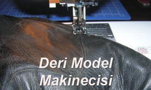 Deri model makinecisi