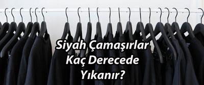 Siyah Çamaşırlar Kaç Derecede Yıkanır?
